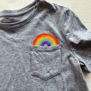 Old Navy | Girl's Rainbow Gray Tee Shirt